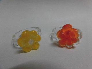 指輪 花 黄色・オレンジ.JPG